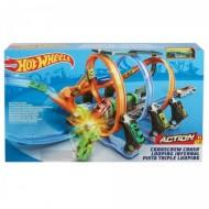 Jucarie baieti circuit Hot Wheels Action Corkscrew