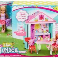 Papusa Barbie club set de joaca casuta lui Chelsea