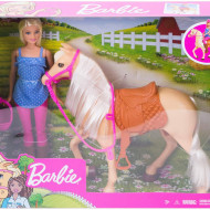 Set de joaca Barbie - Papusa si cal