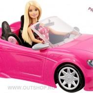 Jucarie fetite papusa Barbie in masinuta decapotabila