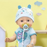 Papusa interactiva Zapf - Bebelus Baby Born cu corp moale baietel