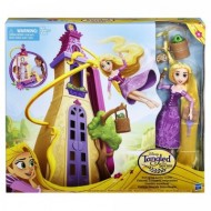Jucarie fetite papusa Rapunzel Tangled Swinging Locks Castle