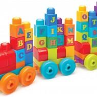 Set de contruit 60 de piese cuburi mari cu litere Mega Bloks Building