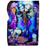 Jucarie fetite papusa Monster High Great Scarrier Reef Peri And Pearl Serpentine Mattel
