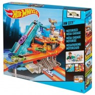 Jucarie baieti Hot Wheels Motorized Mega Garage