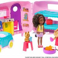 Set de joacă Rulota lui Chelsea, Barbie Chelsea Club