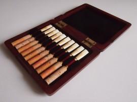 « Elegance » luxus reed case for 10 oboe reeds
