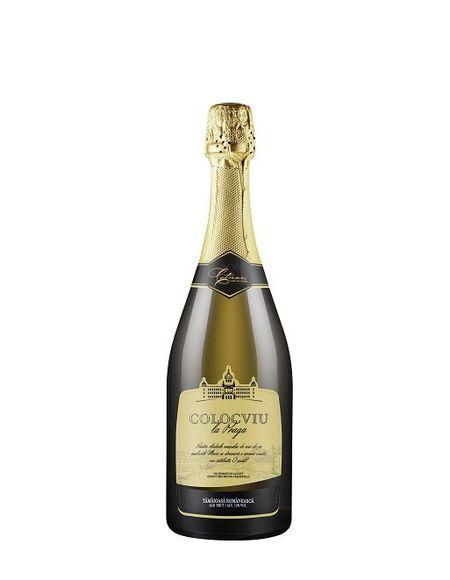 Vin spumant alb Colocviu la Praga- Tamaioasa Romaneasca - 750 ml
