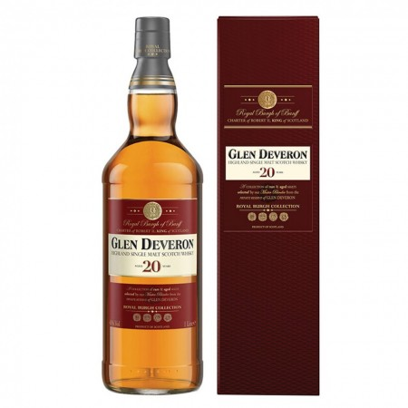 Whisky Sinlge Malt Glen Deveron 20 de ani 46 % - 1000 ml