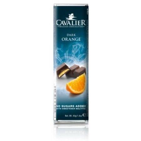 CAVALIER - Baton ciocolata neagra si crema portocale, fara zahar adaugat - 40g / produs in Belgia