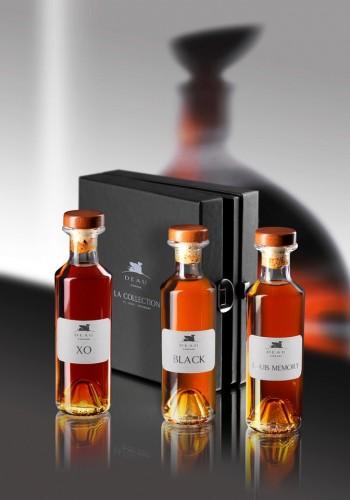 Cognac Deau Tasting Kit XO Black Louis 40% - 3 X 200 ml
