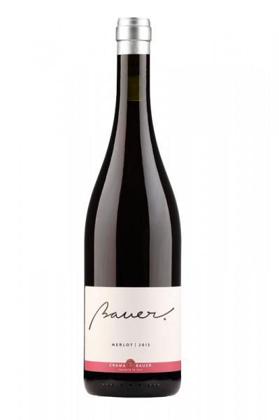 Vin rosu Crama Bauer, MERLOT 2017, 750 ml