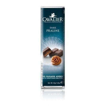 CAVALIER - Baton ciocolata neagra si crema pralinata, fara zahar adaugat - 42g / produs in Belgia