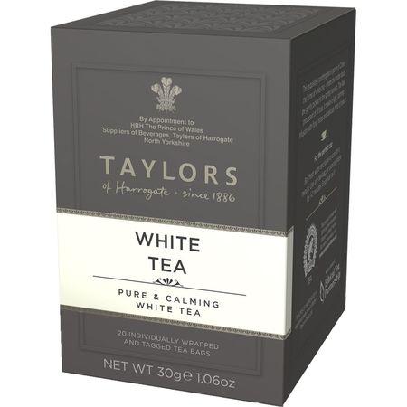 Ceai alb Taylors of Harrogate 20 pliculete a cate 1.5g