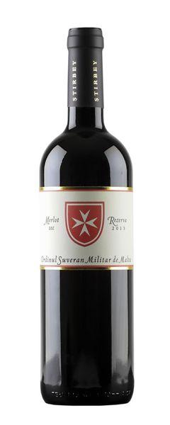 Vin Rosu Stirbey Merlot Rezerva - Ordinul Suveran Militar de Malta 14 % - 750 ml