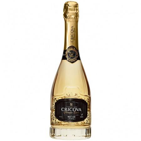 Vin spumant Cricova Premium Cuvee, Alb Brut, 750 ml