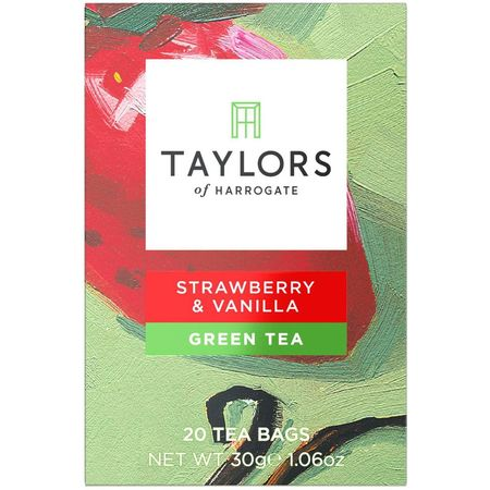 Ceai verde cu capsuni si vanilie Taylors of Harrogate 20 pliculete a cate 1.5g