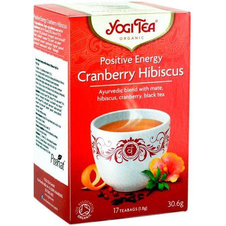Ceai energie pozitiva de merisor si hibiscus bio Yogi tea 17 pliculete a cate 1.8g