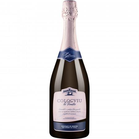 Vin spumant rose, Colocviu la Venetia, Busuioaca, Extrasec, 750 ml