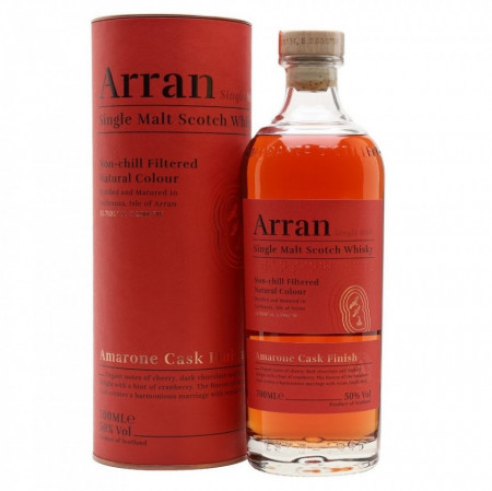 Whisky Arran Amarone Finish, cutie cadou 50%, 700 ml