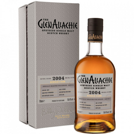 Glenallachie 2004 Front Bottle and Case