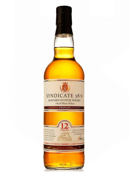 Whisky Syndicate 58/6 12 ani 40 %, 700 ml