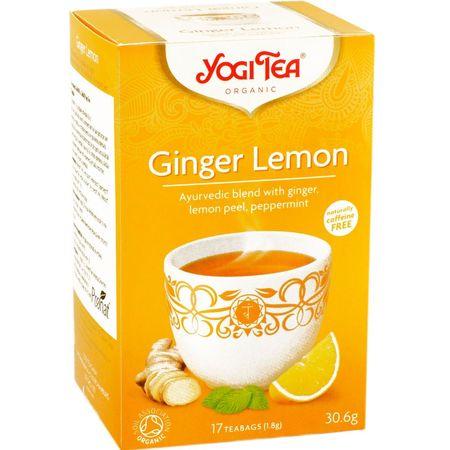 Ceai de ghimbir si lamaie bio Yogi tea 17 pliculete a cate 1.8g