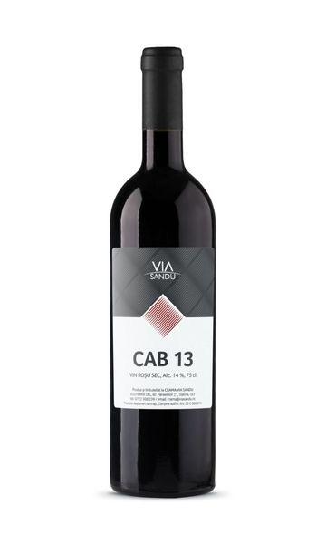 Vin rosu sec CAB 13 Via Sandu 14%, - 750 ml