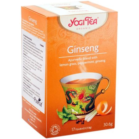 Ceai din flori de Ginseng bio Yogi tea 17 pliculete a cate 1.8g