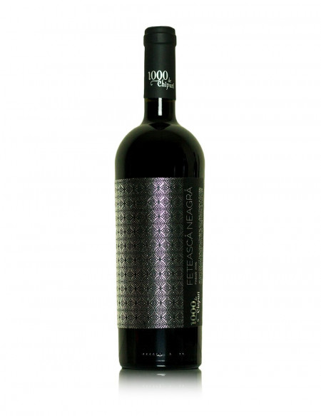 Vin rosu sec 1000 de Chipuri Feteasca Neagra, 750 ml