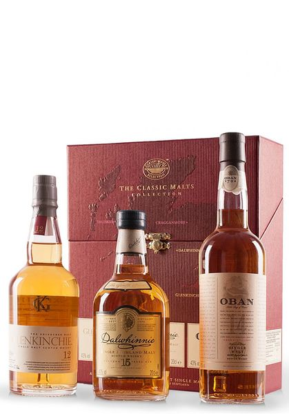Whisky Classic Malts Collection, Gentle Coffret (3x20cl)