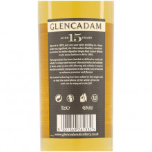 Glencadam 15 yo bottle back label