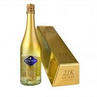 Vin Spumant cu foite de aur,BLUE NUN 24K GOLD, 750 ml Cutie Cadou