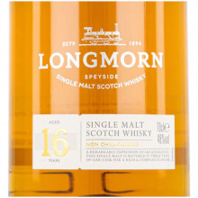 Longmorn 16 yo front label