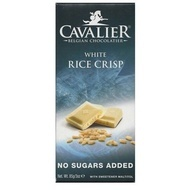 CAVALIER - Tableta ciocolata alba si orez glasat, fara zahar adaugat - 85g / produs in Belgia