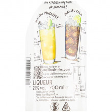 Lichior Malibu 21%, 700 ml