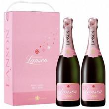 Sampanie Pachet Lanson Rose Label 2 X 750 ml