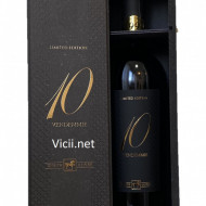 Vin rosu sec 10 Vendemmie 14,5% in cutie de lemn cadou, 750 ml