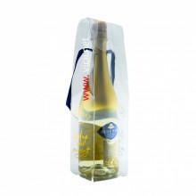 Vin spumos cu foite de aur, Blue Nun 24K Gold in recipient plastic transparent, 750 ml