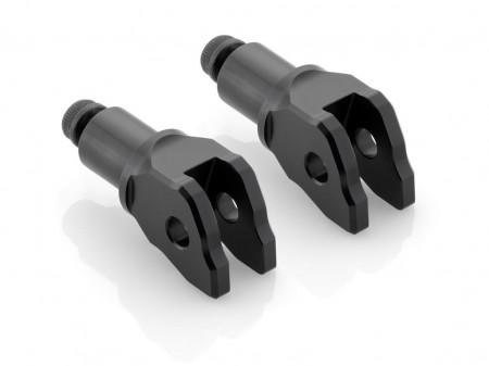 RIZOMA PE852B Rider Peg Adapters - Black