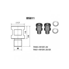 RIZOMA BS811B - Mirror adapter
