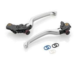 """RIZOMA LBK500A - Brake Lever """"3D"""" with Remote Adjuster Silver"""