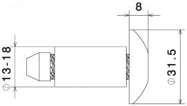 RIZOMA MA531G Bar End (Pair) - Gold