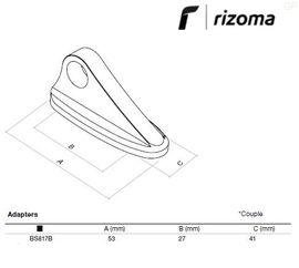RIZOMA BS817B - Mirror adapter