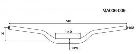 RIZOMA MA006B 1-1/8 inch Diameter Tapered handlebars - Black