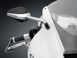 """RIZOMA BS305A - Mirror """"Veloce L"""" with integrated indicator light"""