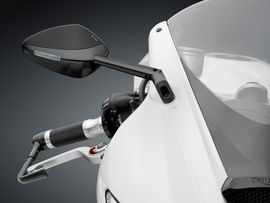 """RIZOMA BS305B - Mirror """"Veloce L"""" with integrated indicator light"""
