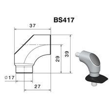 RIZOMA BS417B - Mirror adapter