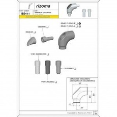 RIZOMA BS411B - Mirror adapter