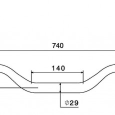 RIZOMA MA006R 1-1/8 inch Diameter Tapered handlebars - Red
